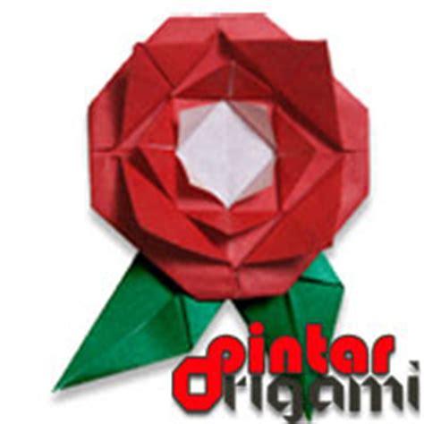 Origami Bunga Ros - cara membuat origami bunga mawar cara membuat origami
