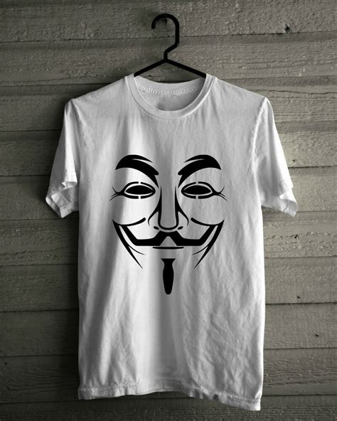 Kaos Anonymouse 1 the fawkes mask t shirt the hacktivist