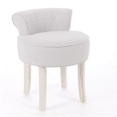 small white vanity chair dressing table vanity stool padded seat chair modern