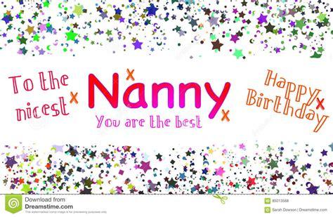 printable birthday cards nanny happy birthday nanny card stock illustration image of
