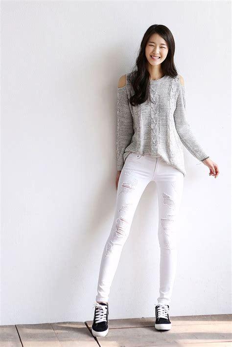 Bj 0788 Simple Casual Blouse sheer knit shoulder cut top dress to impress