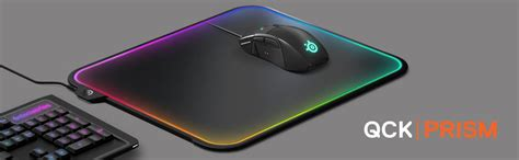 Mousepad Steelseries Qck Prism Rgb steelseries qck prism gaming mouse pad reactive rgb illumination 320mm x 270mm dual textured