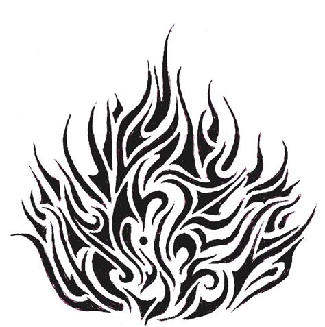 flames tattoo design 23 wonderful tribal and only tribal