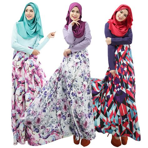 aliexpress buy 2015 new muslim abaya dress xl floral print plus size islamic maxi