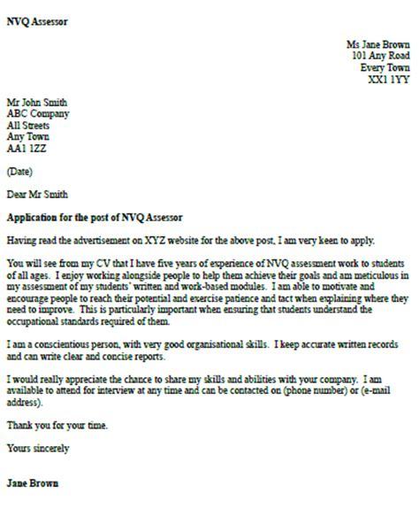 nvq assessor cover letter example icover org uk
