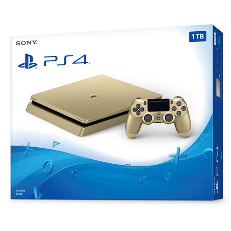 sony playstation 4 console sony playstation 4 slim gaming console gold 3002191 b h