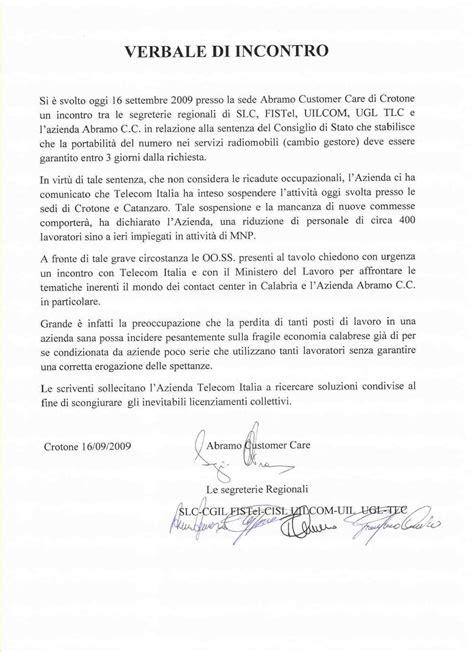 verbale di conciliazione in sede sindacale comunicati ugl telecomunicazioni calabria sito ufficiale