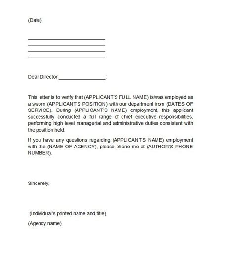 Employment Letter Format For 40 Proof Of Employment Letters Verification Forms Sles