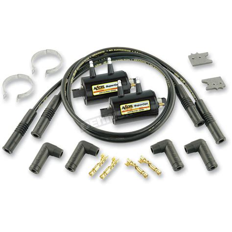 motorcycle ignition resistor accel coil kit w 3 ohm resistance coils 4 kit 140403k cruiser motorcycle dennis