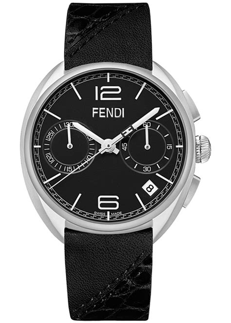 fendi momento chronograph leather mens f212011011