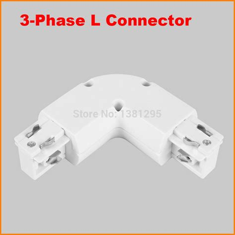 3 light l 3 phase circuit 4 wire l shape light track rail connector