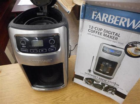 Sigmatic Coffee Maker 100 Ss farberware 12 cup digital programmable coffee maker