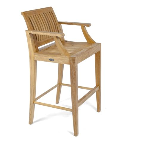 teak outdoor bar stools laguna premium teak outdoor bar stool and pub chai