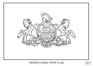 pennsylvania state color flag of pennsylvania coloring page free printable
