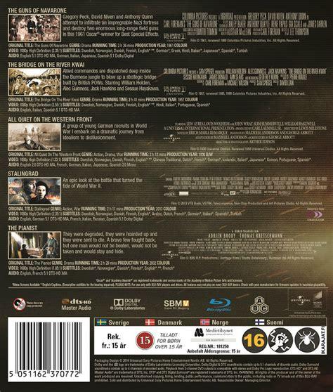 katsella elokuva the bridge on the river kwai war movies box volume 2 blu ray blu ray genret sota