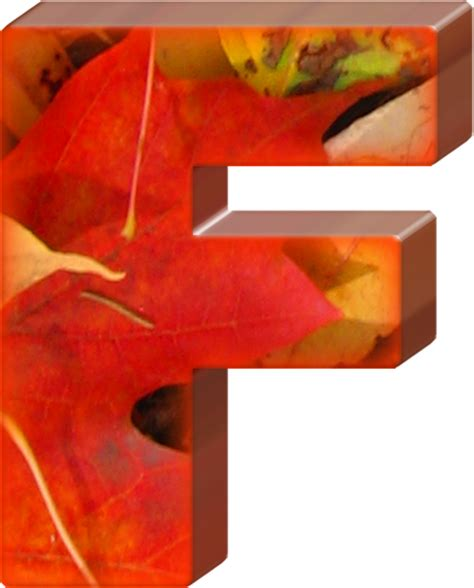 Letter Fall presentation alphabets fall leaves letter f