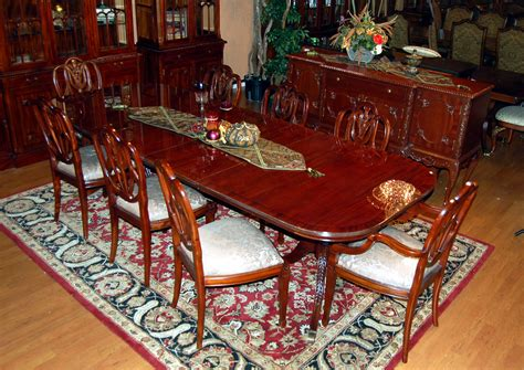 mahogany dining room table and 8 chairs mahogany dining table and 8 chair set ebay