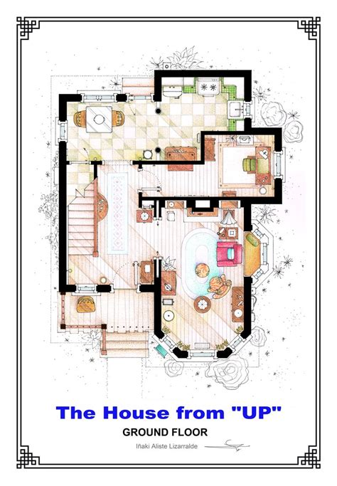 Apartment Layouts From Tv Shows The House From Up Ground Floor Floorplan By Nikneuk On