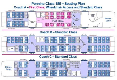 hull trains seat plan pennine class 185 plan uk simon pielow flickr