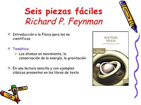 seis piezas fciles 8484328465 lecturas recomendadas de f 237 sica y qu 237 mica