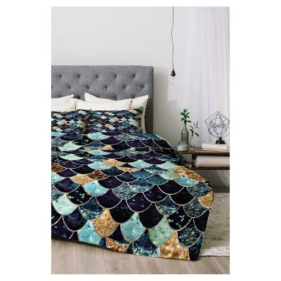 Pp Quilt Blanket Selimut Jahit blue monika strigel really mermaid mystic comforter set xl 2pc deny designs 174 target