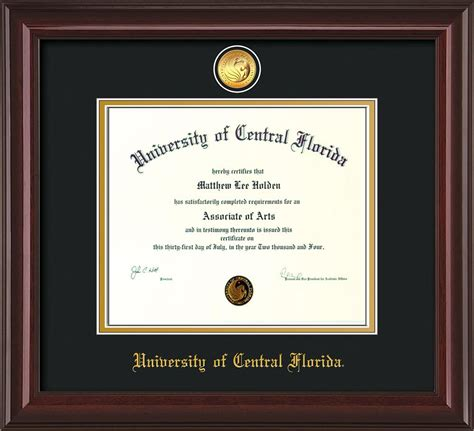 Ucf Mba Program by Univ Of Central Florida Diploma Frame M Lacquer Medallion
