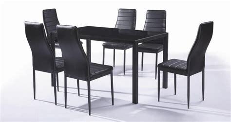 ensemble chaise et table ensemble table et 6 chaises contemporain coloris noir