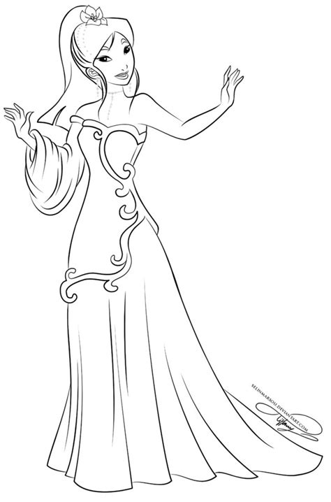 10 images about disney coloring pages on pinterest lineart glamorous fashion mulan by selinmarsou on