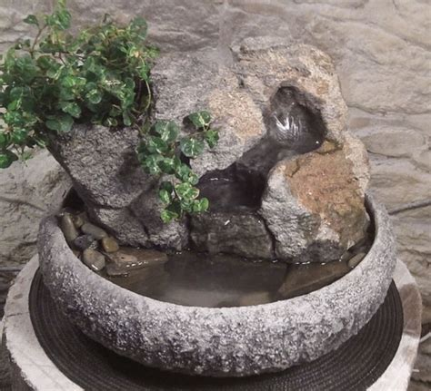 buddha water fountain w live plants 7 natural creations