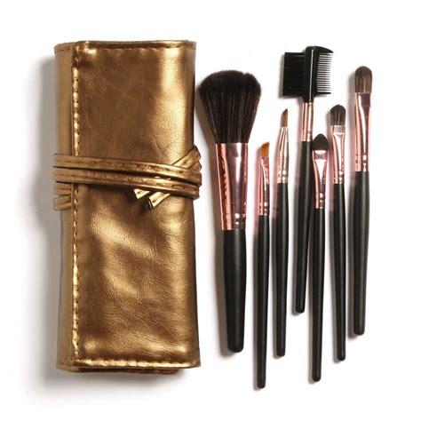 Sale 02bw Mac Powder Brush Make Up aliexpress buy big discount high quality 7 makeup brush set in sleek golden leather like