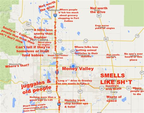 Denver Mattress Greeley Co by Judgmental Map Of Northern Colorado