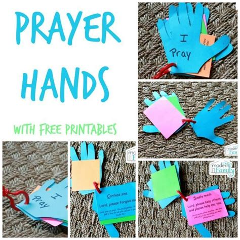 themes relating to time prayer hands for kids sunday school crafty and craft