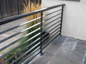 Patio Balustrade Interior Modern Grey Metal Balcony Railing With Stoned