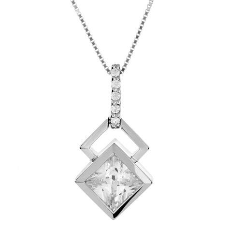 sterling silver shape design white cz