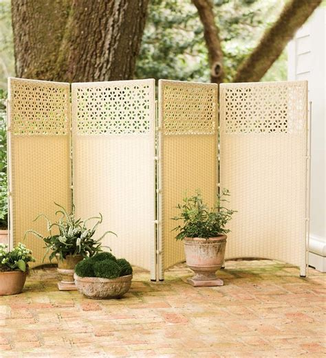 wicker outdoor patio privacy screen fencing edging