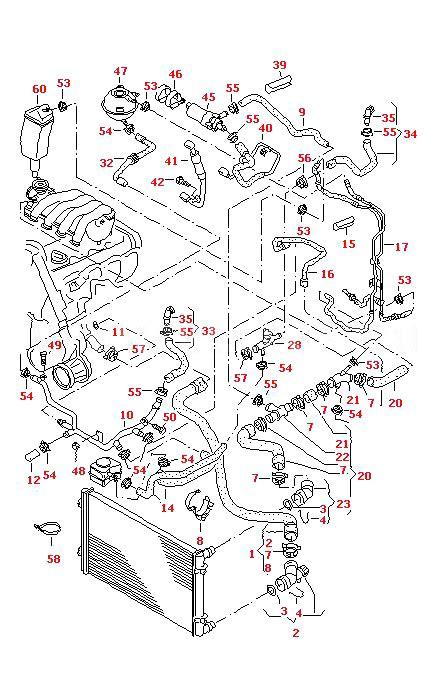audi tt parts diagram audi tt 2000 06 radiator top hose with flange for 1 8 ltr