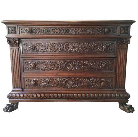 Walnut Dresser Antique by Antique 19th Century Italian Walnut Wood Dresser For Sale