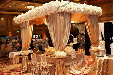 luxury wedding outdoor decorations canopy curtain