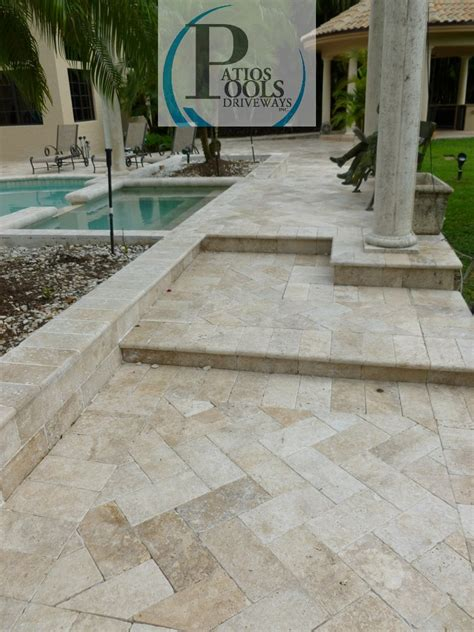Travertine Patio Pavers Travertine Pavers Alluring Product For Palm Broward And Dade Counties Travertine