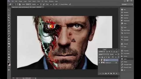 tutorial photoshop terminator photoshop tutorial terminator face youtube