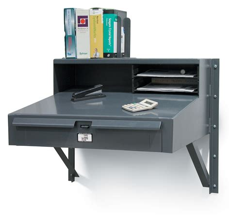 Desk For Shop Strong Hold Products Wall Mounted Industrial Shop Desk