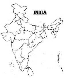 India Physical Map Outline In A4 Size by India 2012 Blank India Map