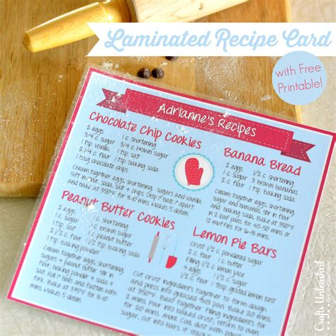 how to make a recipe card recipe card diy with free printable crafts unleashed