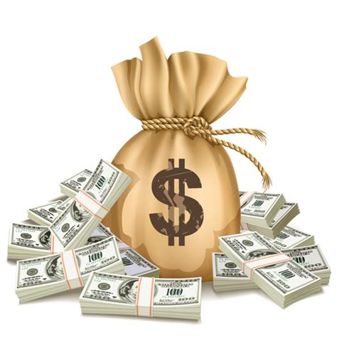 design online for money sack with money design vector graphics set 03 vector