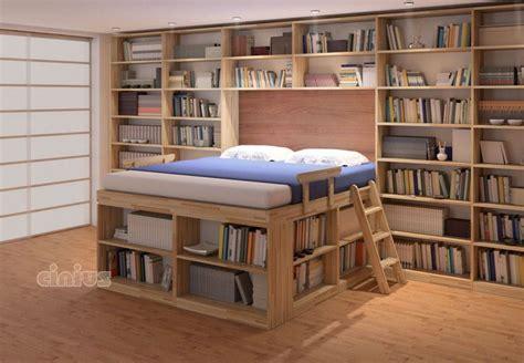 libreria letto letto biblioteca con libreria e scaffali letto