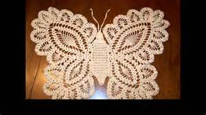 Crochet butterfly doily youtube