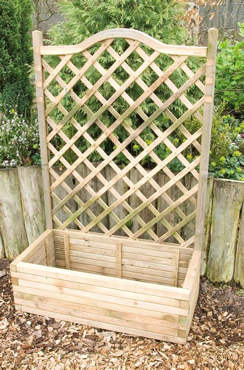 planters with trellis planter and trellis earnshaws fencing centres