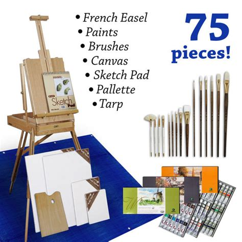 acrylic paint kit with easel 80 easel painting set from mrpearl11 on ebay