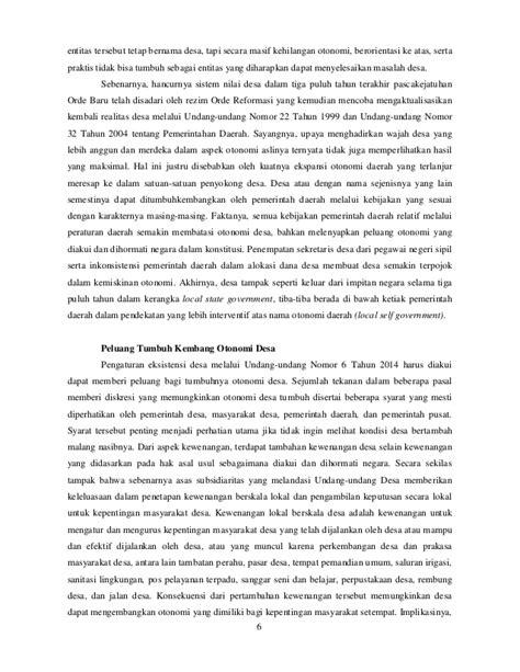 Kitab Undang Undang Desa Edisi Kedua menafsir undang undang desa yyang menyembuhkan indonesia