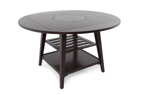 Dining Tables For 2 Two Shelved 59 Quot Lazy Susan Dining Table With Four Drop